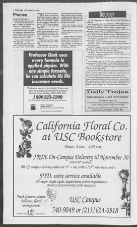 Daily Trojan, Vol. 121, No. 14, September 20, 1993