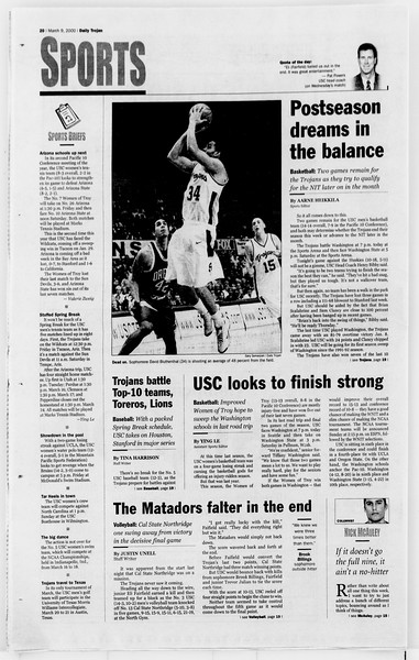 Daily Trojan, Vol. 139, No. 39, March 09, 2000