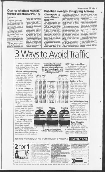 Daily Trojan, Vol. 122, No. 31, February 28, 1994