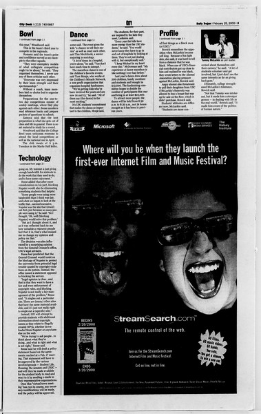 Daily Trojan, Vol. 139, No. 30, February 25, 2000