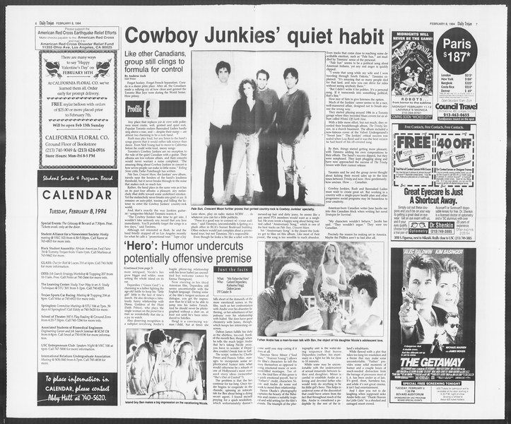 Daily Trojan, Vol. 122, No. 19, February 08, 1994