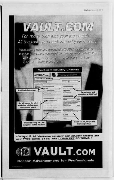 Daily Trojan, Vol. 139, No. 25, February 16, 2000