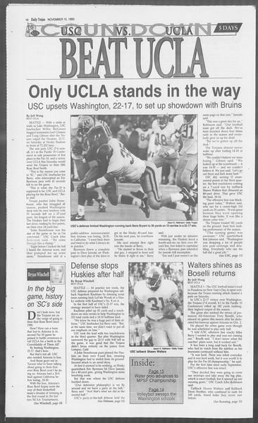 Daily Trojan, Vol. 121, No. 53, November 15, 1993
