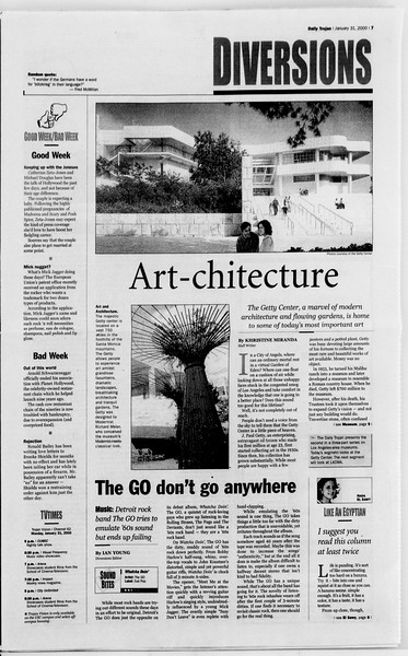 Daily Trojan, Vol. 139, No. 13, January 31, 2000