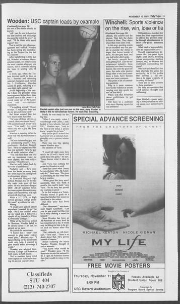 Daily Trojan, Vol. 121, No. 50, November 10, 1993