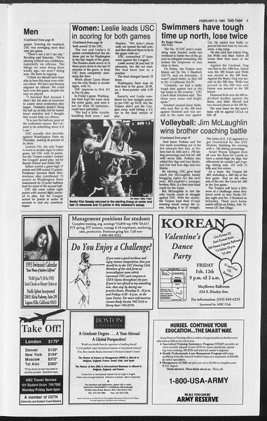 Daily Trojan, Vol. 119, No. 18, February 08, 1993
