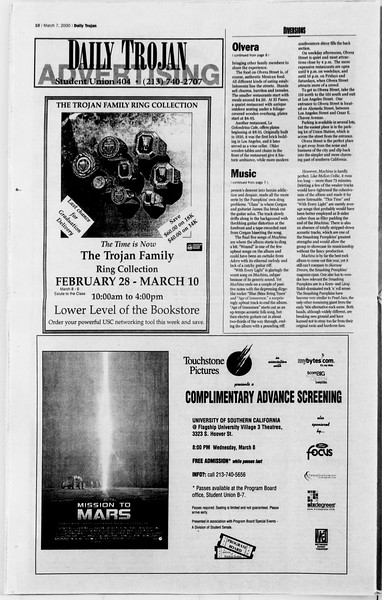 Daily Trojan, Vol. 139, No. 37, March 07, 2000