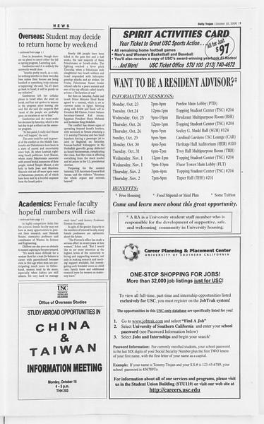 Daily Trojan, Vol. 141, No. 34, October 16, 2000