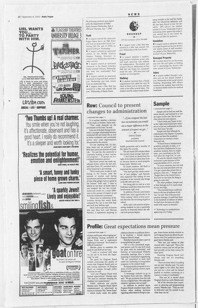 Daily Trojan, Vol. 141, No. 8, September 08, 2000