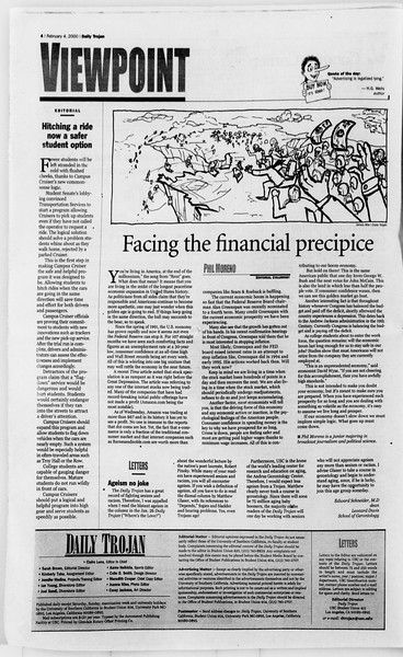 Daily Trojan, Vol. 139, No. 17, February 04, 2000