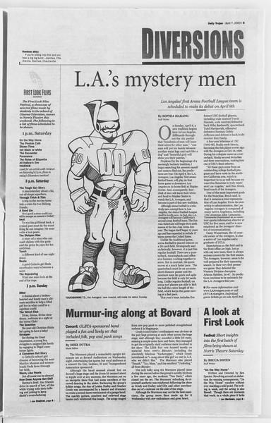 Daily Trojan, Vol. 139, No. 53, April 07, 2000