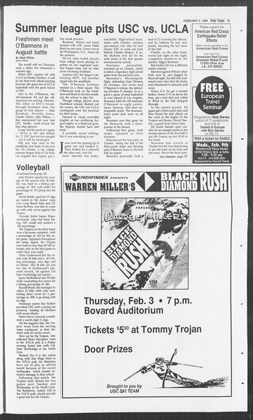 Daily Trojan, Vol. 122, No. 15, February 02, 1994