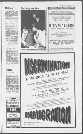 Daily Trojan, Vol. 121, No. 40, October 26, 1993