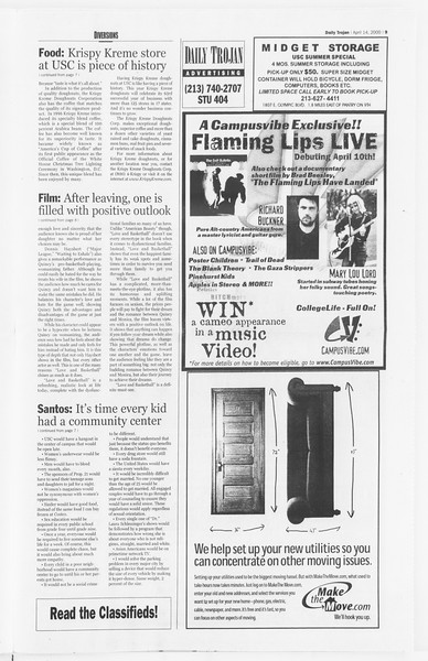 Daily Trojan, Vol. 139, No. 58, April 14, 2000