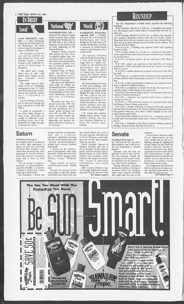 Daily Trojan, Vol. 122, No. 49, March 24, 1994