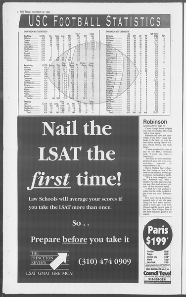Daily Trojan, Vol. 121, No. 31, October 13, 1993