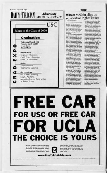 Daily Trojan, Vol. 139, No. 35, March 03, 2000
