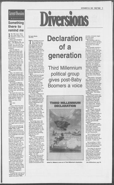 Daily Trojan, Vol. 121, No. 60, November 30, 1993