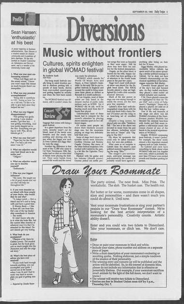 Daily Trojan, Vol. 121, No. 14, September 20, 1993