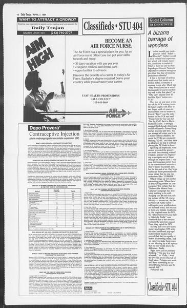 Daily Trojan, Vol. 122, No. 53, April 07, 1994