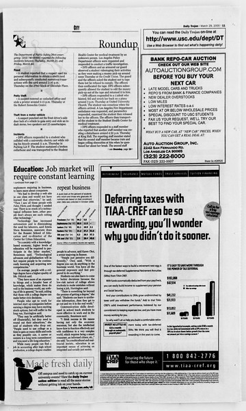 Daily Trojan, Vol. 139, No. 46, March 29, 2000