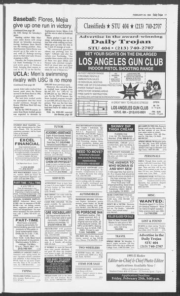 Daily Trojan, Vol. 122, No. 28, February 23, 1994