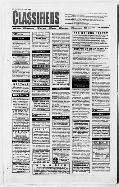 Daily Trojan, Vol. 139, No. 46, March 29, 2000