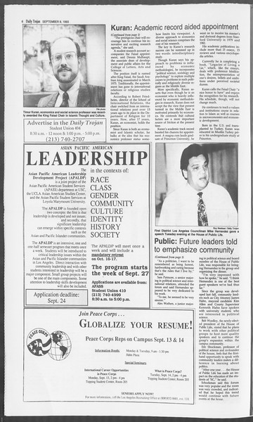 Daily Trojan, Vol. 121, No. 7, September 09, 1993