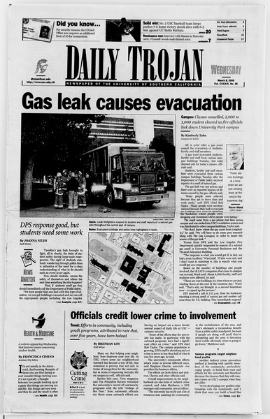 Daily Trojan, Vol. 139, No. 38, March 08, 2000