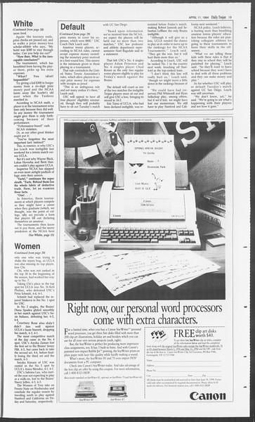 Daily Trojan, Vol. 122, No. 55, April 11, 1994