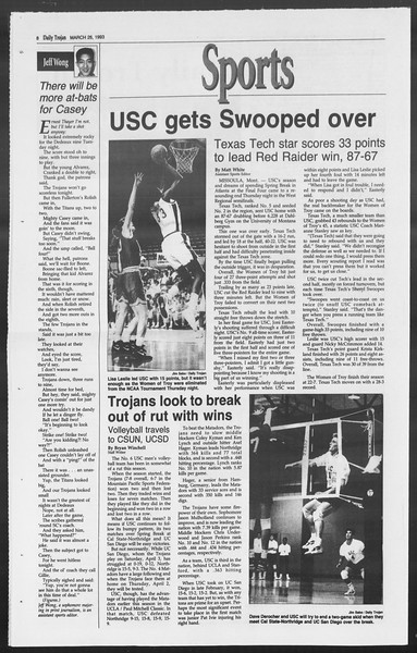 Daily Trojan, Vol. 119, No. 50, March 26, 1993