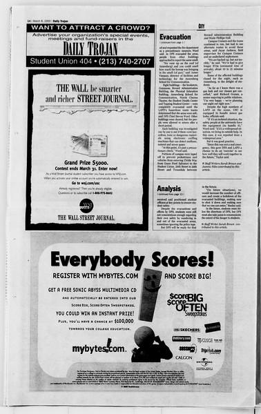 Daily Trojan, Vol. 139, No. 38, March 08, 2000