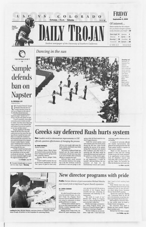 Daily Trojan, Vol. 141, No. 8, September 08, 2000