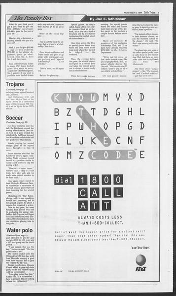 Daily Trojan, Vol. 123, No. 48, November 08, 1994