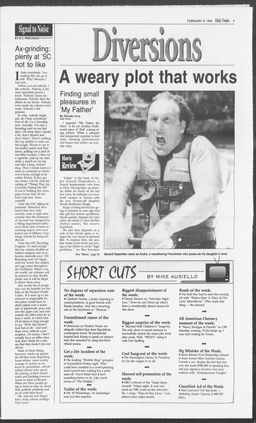 Daily Trojan, Vol. 122, No. 19, February 08, 1994