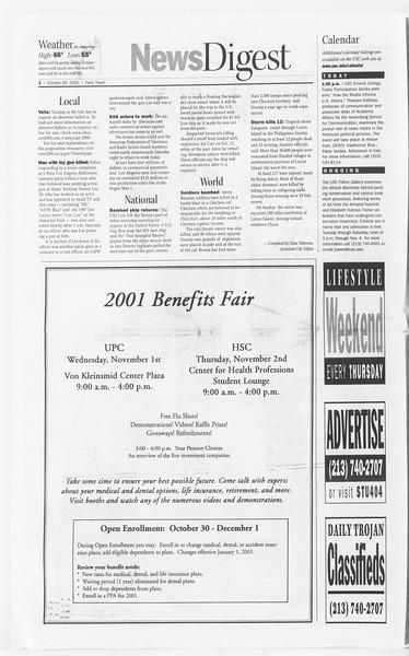 Daily Trojan, Vol. 141, No. 43, October 30, 2000
