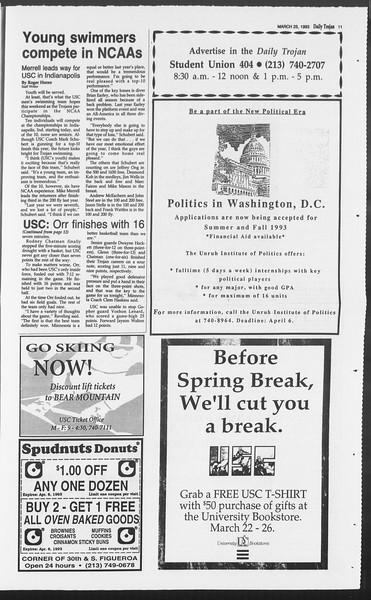 Daily Trojan, Vol. 119, No. 49, March 25, 1993