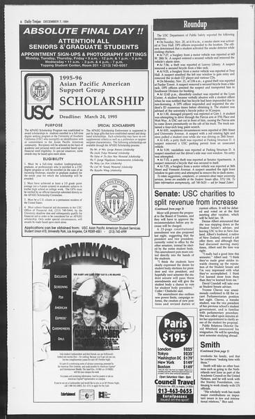 Daily Trojan, Vol. 123, No. 65, December 07, 1994
