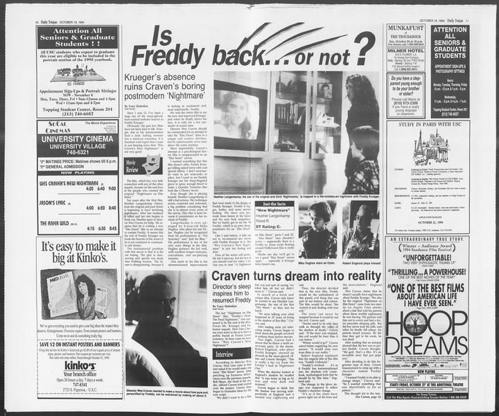 Daily Trojan, Vol. 123, No. 33, October 19, 1994