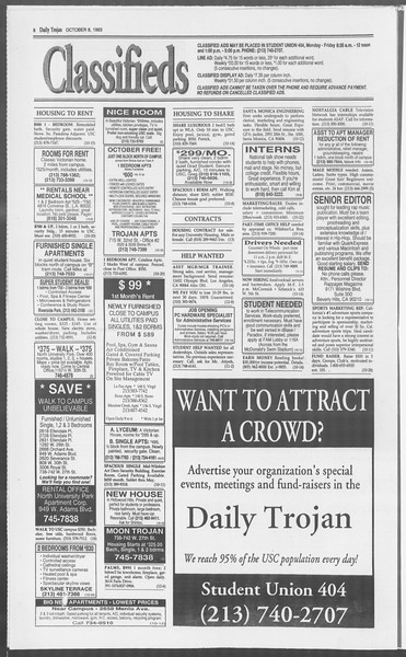 Daily Trojan, Vol. 121, No. 28, October 08, 1993