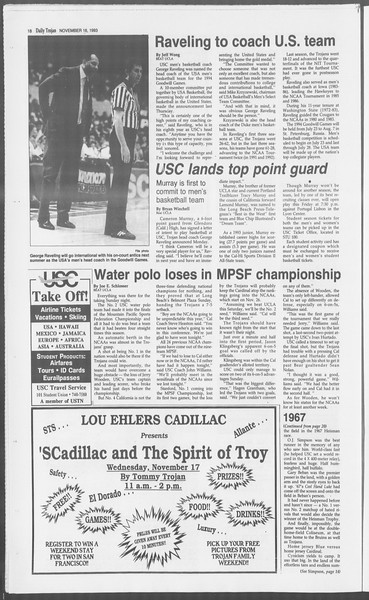 Daily Trojan, Vol. 121, No. 54, November 16, 1993