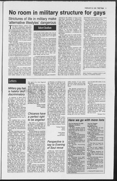 Daily Trojan, Vol. 119, No. 27, February 23, 1993