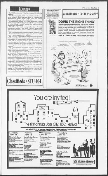 Daily Trojan, Vol. 122, No. 54, April 08, 1994