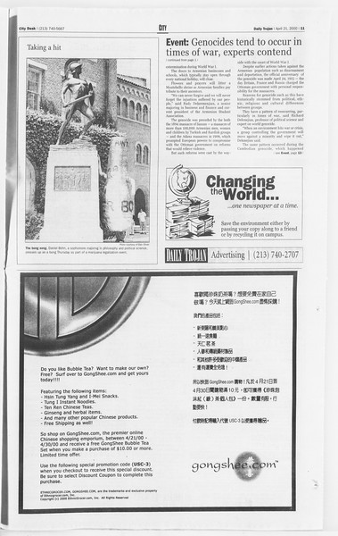 Daily Trojan, Vol. 139, No. 63, April 21, 2000