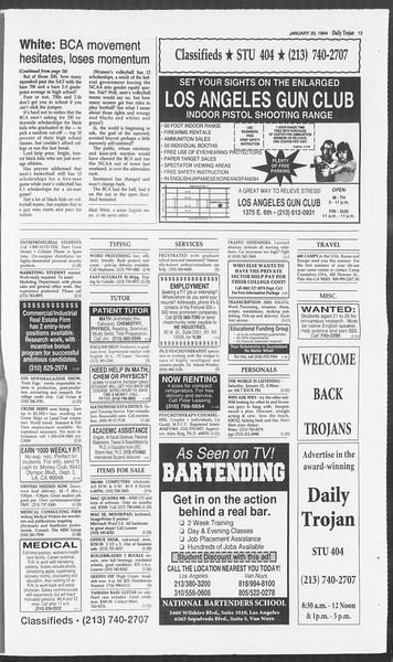 Daily Trojan, Vol. 122, No. 6, January 20, 1994