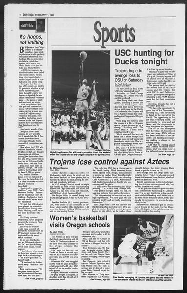 Daily Trojan, Vol. 119, No. 21, February 11, 1993