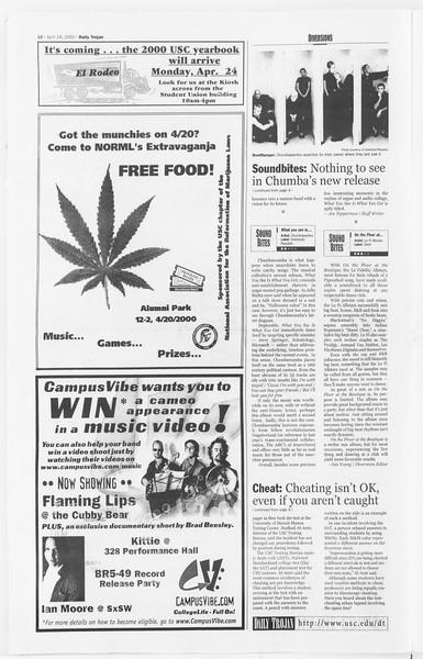 Daily Trojan, Vol. 139, No. 60, April 18, 2000