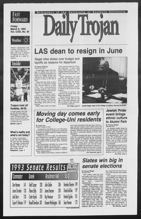 Daily Trojan, Vol. 119, No. 35, March 05, 1993