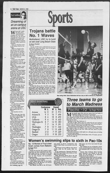 Daily Trojan, Vol. 119, No. 33, March 03, 1993
