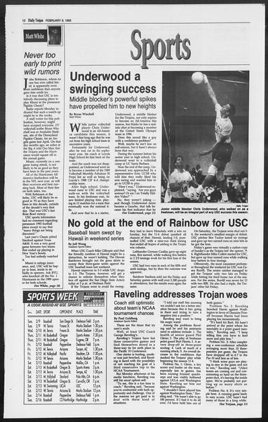 Daily Trojan, Vol. 119, No. 19, February 09, 1993